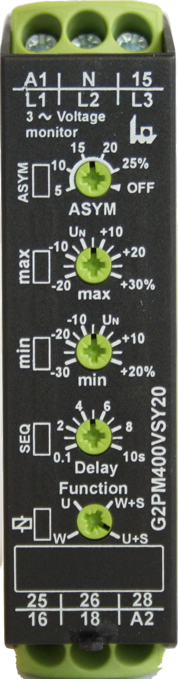 400V Sy20 3 Phase A.C voltage Monitoring relay Image